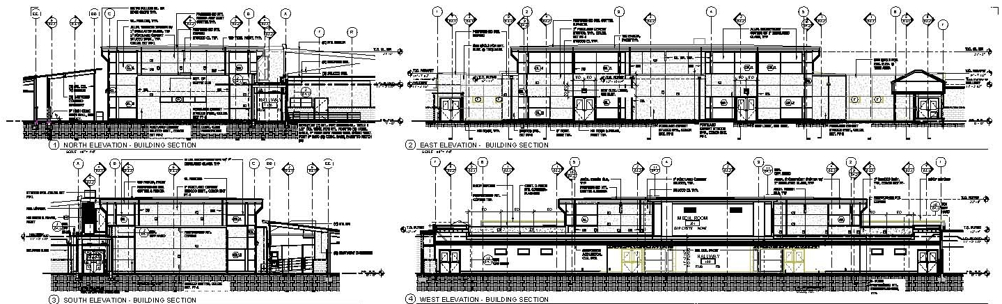 Primary School Plan Elevation : Facility east hill elementary addition elevations